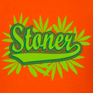 Stoner with cannabis leaves T-Shirts - Men's T-Shirt