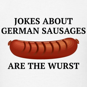 Jokes About German Sausages - Men's T-Shirt