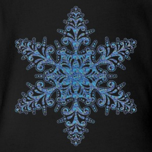 Blue Snowflake Creeper - Short Sleeve Baby Bodysuit