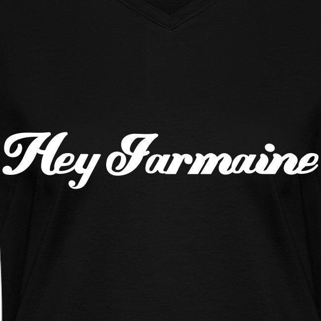 V-neck - Hey Jarmaine - White