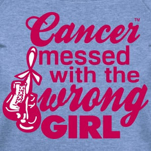 Cancer Messed With The Wrong Girl Long Sleeve Shirts - Women's Wideneck Sweatshirt