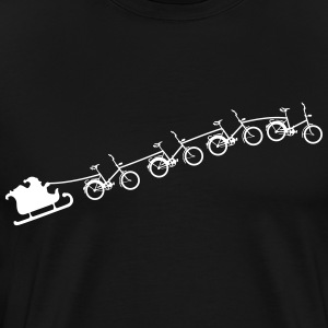 Christmas sleigh of flying folding bikes Shirt - Men's Premium T-Shirt