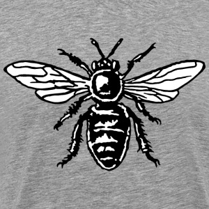 Bee T-Shirt (Men/Gray) - Men's Premium T-Shirt