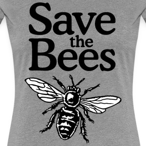 Save The Bees T-Shirt (Women Gray) - Women's Premium T-Shirt