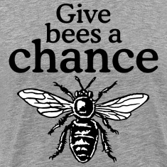 Give Bees A Chance T-Shirt (Men/Gray)