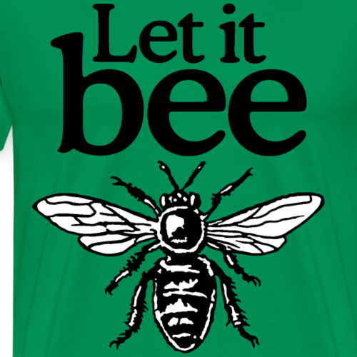 Let It Bee Beekeeper Quote Design (two-color)