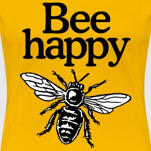 Bee Happy Beekeeper T-Shirt (Women Yellow) - Women's Premium T-Shirt