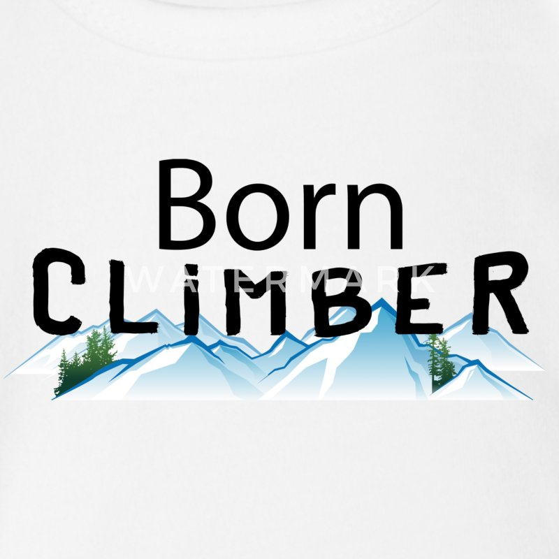 Rock Climbing Born Climber - Short Sleeve Baby Bodysuit