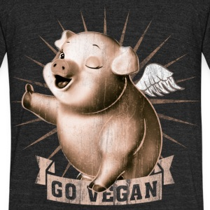 Go Vegan T-Shirts - Unisex Tri-Blend T-Shirt by American Apparel
