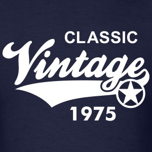Vintage CLASSIC 1975 Shirt Birthday change year 40 - Men's T-Shirt