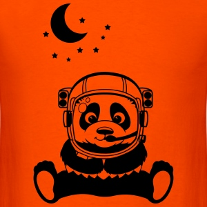 Pandanaut with sweet Panda with stars T-Shirts - Men's T-Shirt
