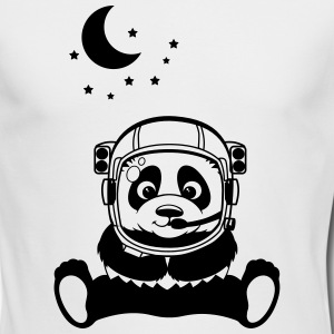 Pandanaut with sweet Panda with stars Long Sleeve Shirts - Men's Long Sleeve T-Shirt by Next Level