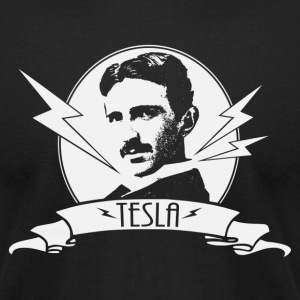 Tesla shirt - Men's T-Shirt by American Apparel