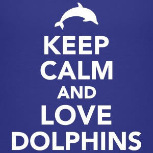 Keep calm and love dolphins Kids' Shirts - Kids' Premium T-Shirt
