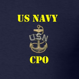 US Navy Old School CPO Shirt - Men's T-Shirt