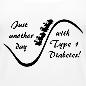 Just Another Day With Type Diabetes - Black  Tanks - Women's Premium Tank Top