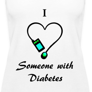 I Love Someone With Diabetes - A - B/G Tanks - Women's Premium Tank Top