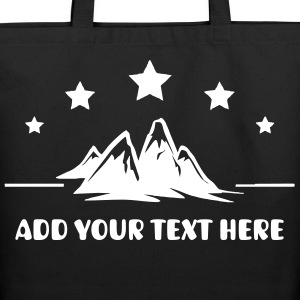 Rock Climbing Add Your Text Personalize - Eco-Friendly Cotton Tote