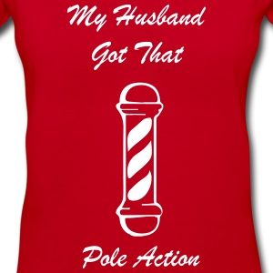 HUSBAND POLE ACTION S1 Women's T-Shirts - Women's V-Neck T-Shirt