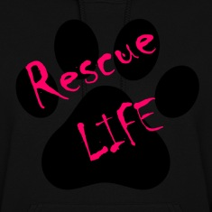Rescue Life Ladies hooded sweat shirt