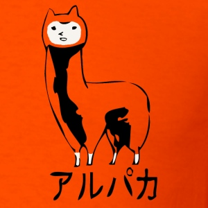Orange Alpaca - Men's T-Shirt