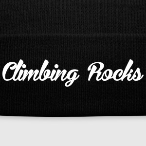 Rock Climbing Rocks - Knit Cap with Cuff Print