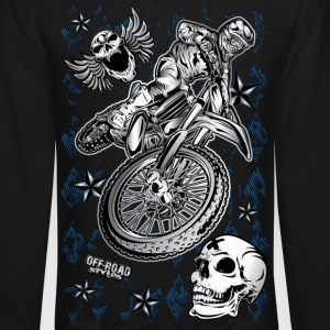 Motocross Dirt Bike Grunge Shirt Long Sleeve Shirts - Crewneck Sweatshirt