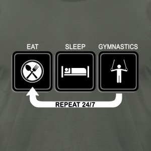 Eat - Sleep - Gymnastics T-Shirts - Men's T-Shirt by American Apparel