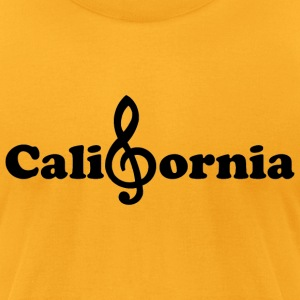 California treble clef Pacific Ocean Music Note  - Men's T-Shirt by American Apparel