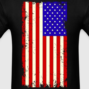Distressed USA Flag T-Shirts - Men's T-Shirt