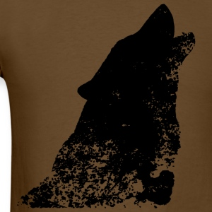 Grunge Distressed Wolf T-Shirts - Men's T-Shirt