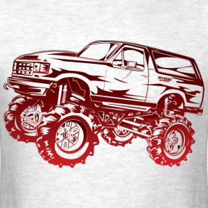 Mega Mud Ford Bronco Red T-Shirts - Men's T-Shirt