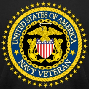 Navy Veteran - Men's T-Shirt by American Apparel
