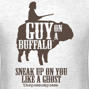 The Possum Posse Guy On a Buffalo-Ghost T-Shirts - Men's T-Shirt