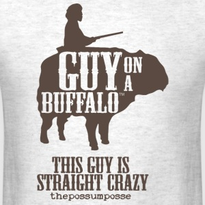 The Possum Posse Guy On a Buffalo-Crazy T-Shirts - Men's T-Shirt