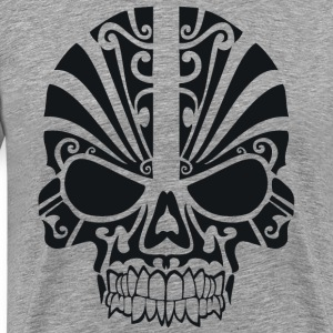 Tribal Skull tattoo skeleton horror art, - Men's Premium T-Shirt