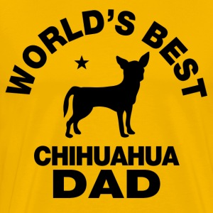 worlds best chihuahua dad T-Shirts - Men's Premium T-Shirt