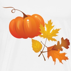 pumpkin and autumn leaves - Men's Premium T-Shirt
