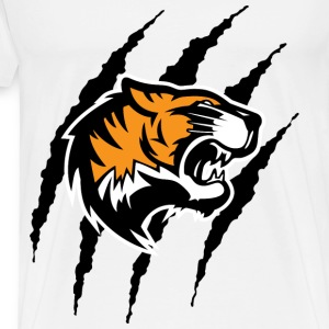 Tiger with claw marks - Men's Premium T-Shirt