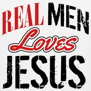 Real men love jesus Tank Tops - Men's Premium Tank