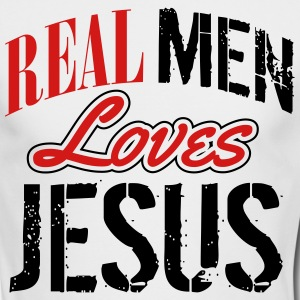 Real men love jesus Long Sleeve Shirts - Men's Long Sleeve T-Shirt by Next Level
