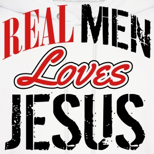 Real men love jesus Hoodies - Men's Hoodie