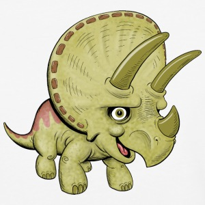 Cute Triceratops - Baseball T-Shirt