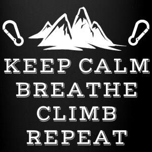 Rock Climbing Keep Calm Breathe - Full Color Mug