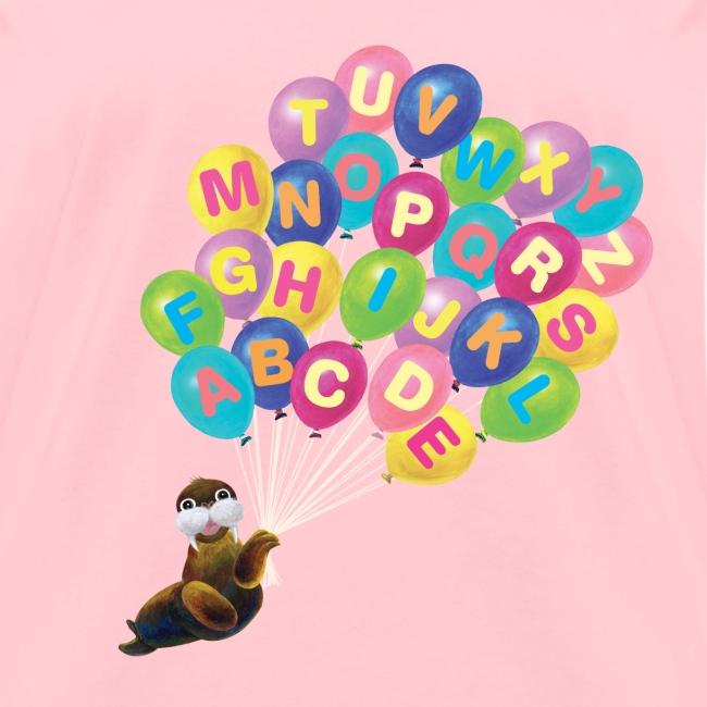 Alphabet Balloon Walrus for women