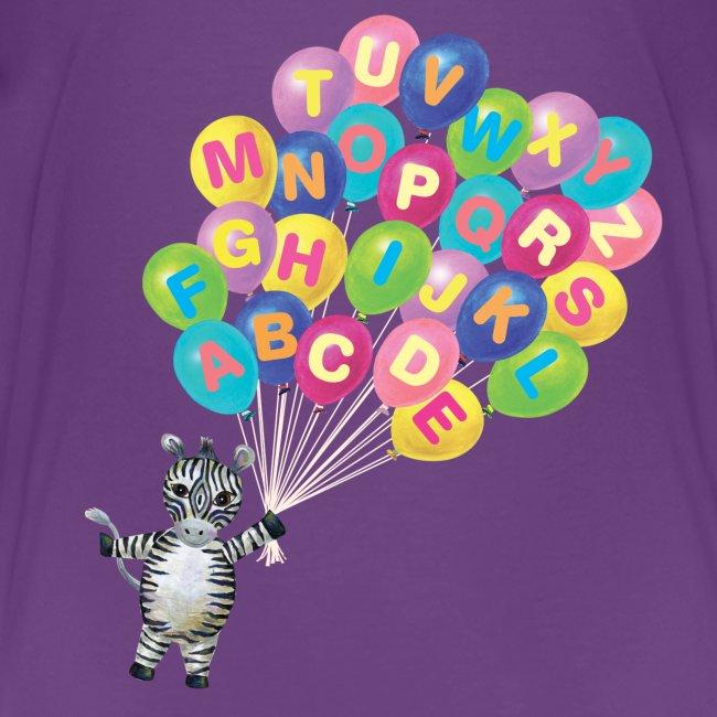 Alphabet Balloon Zebra