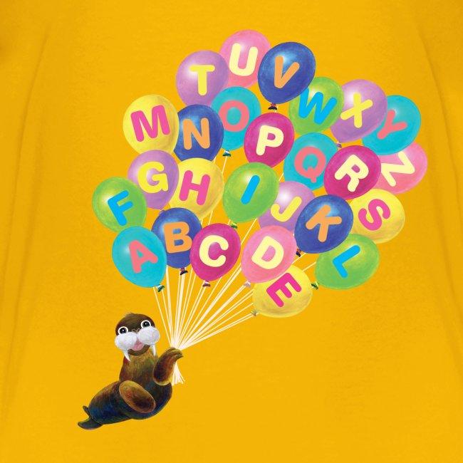 Alphabet Balloon Walrus