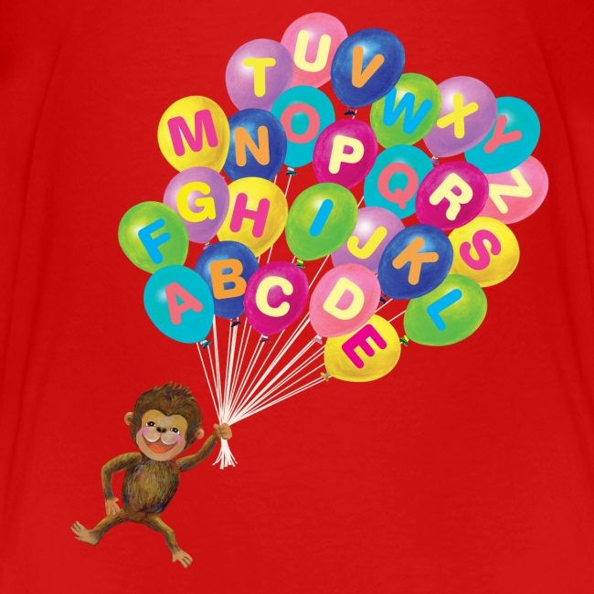 Alphabet Balloon Monkey