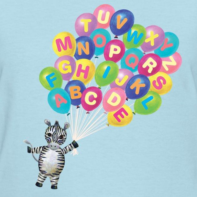 Alphabet Balloon Zebra for women