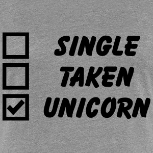 Single, Taken, Unicorn Women's T-Shirts - Women's Premium T-Shirt